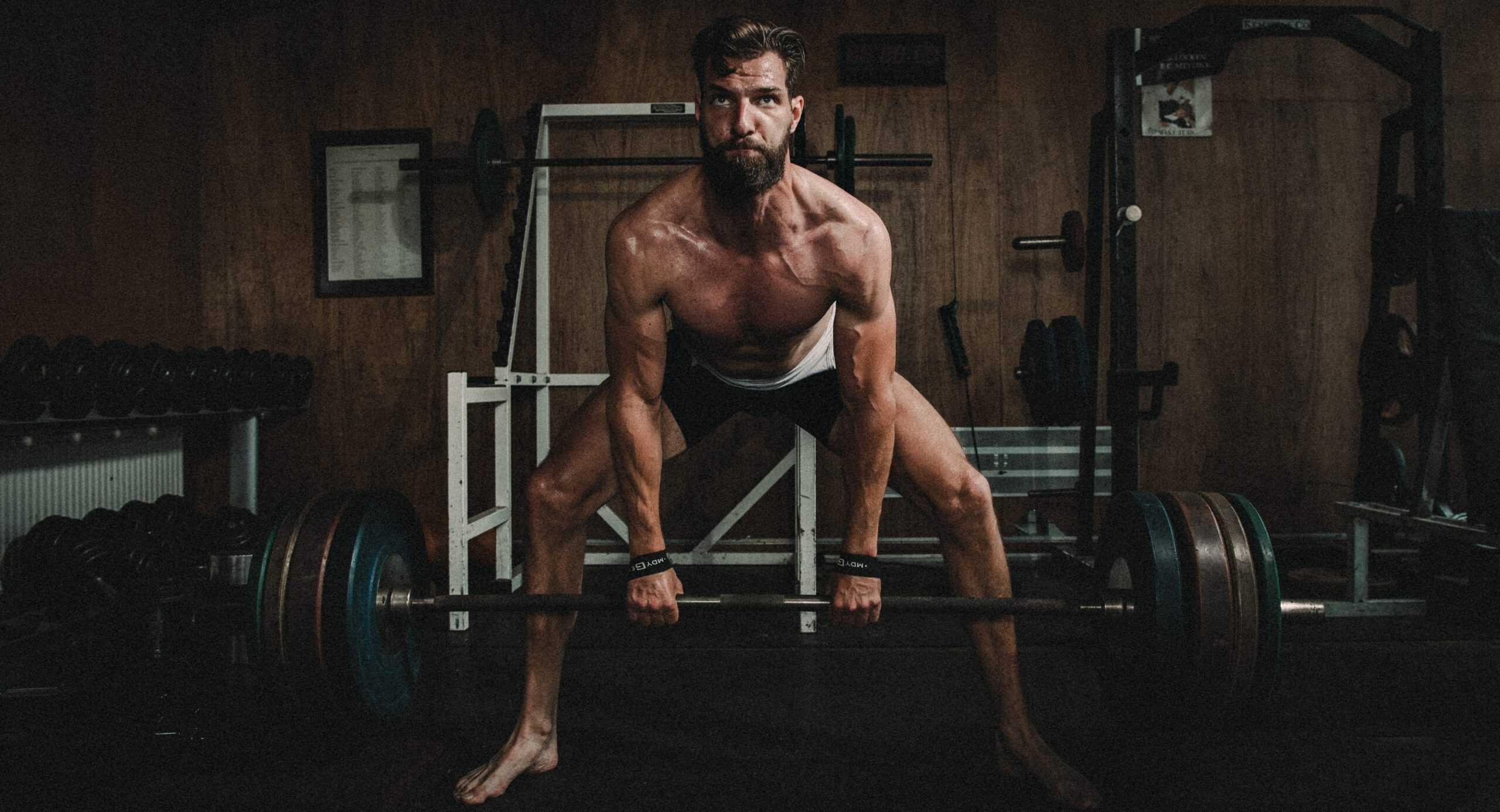 portfolio foto atleet die sumo deadlift doet