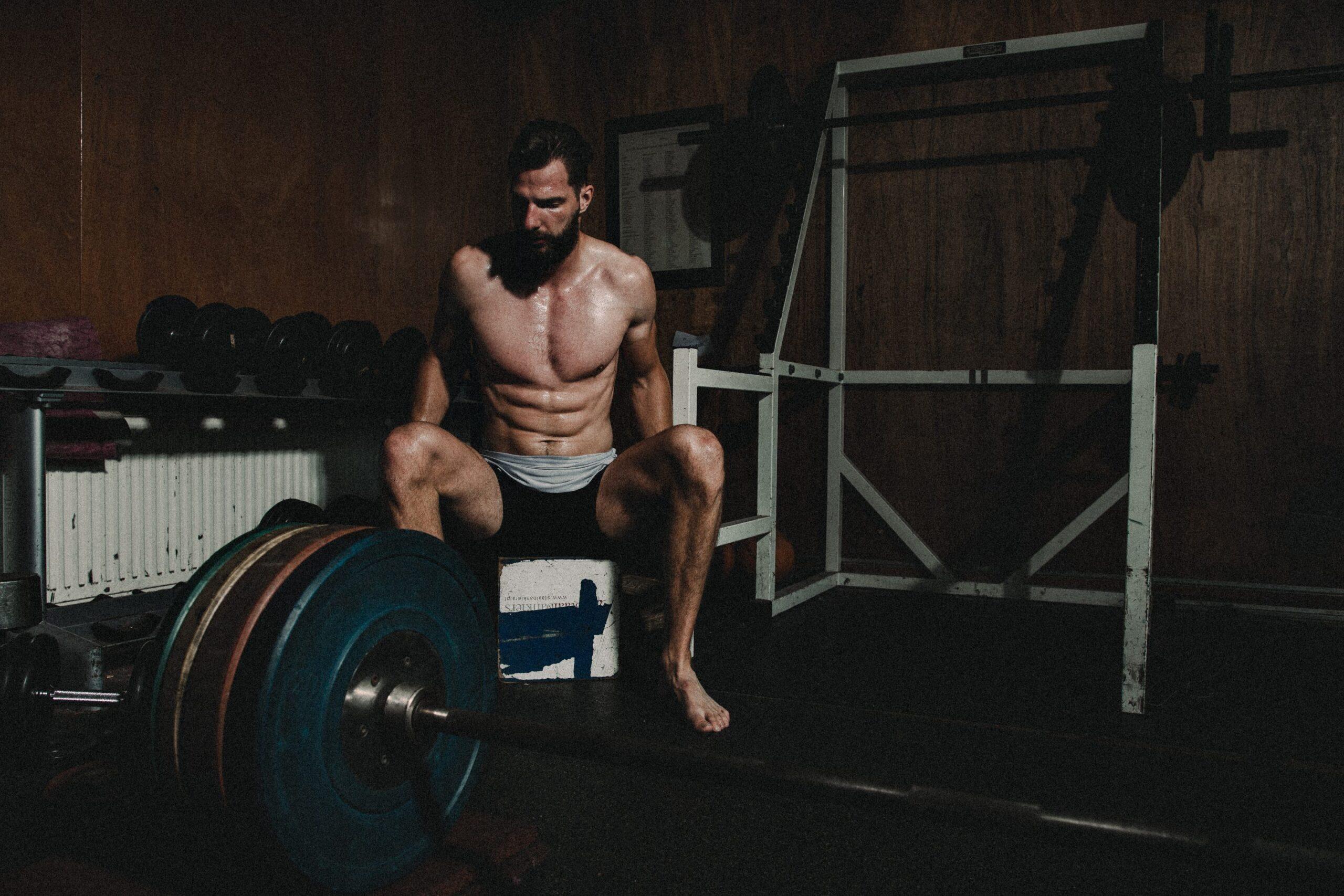 portfolio foto atleet die krachtraining doet